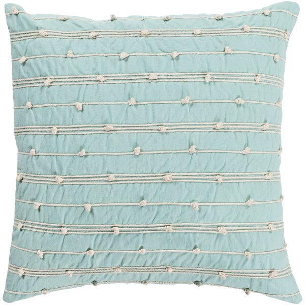 Bilbie Square Green 100% Cotton Throw Pillow by World Menagerie